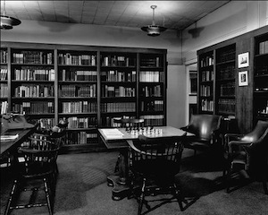 The Society's Library during its stay in the Hare building.